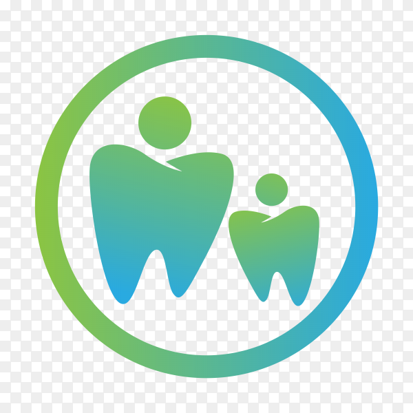 Simple dental logo design template on transparent background PNG.png