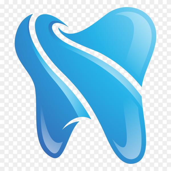 Simple dental logo in blue color on transparent background PNG.png