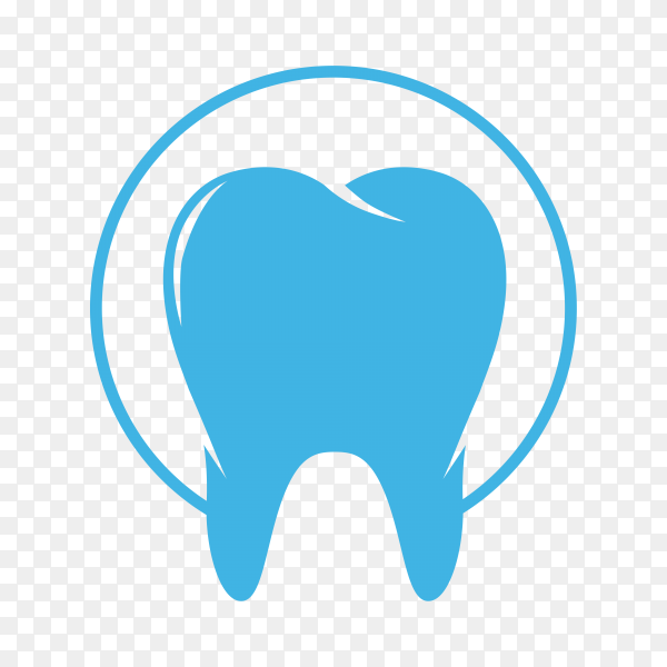 Simple tooth logo on transparent background PNG.png
