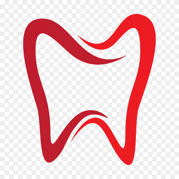 Smile Dental logo Template in red color on transparent background PNG.png