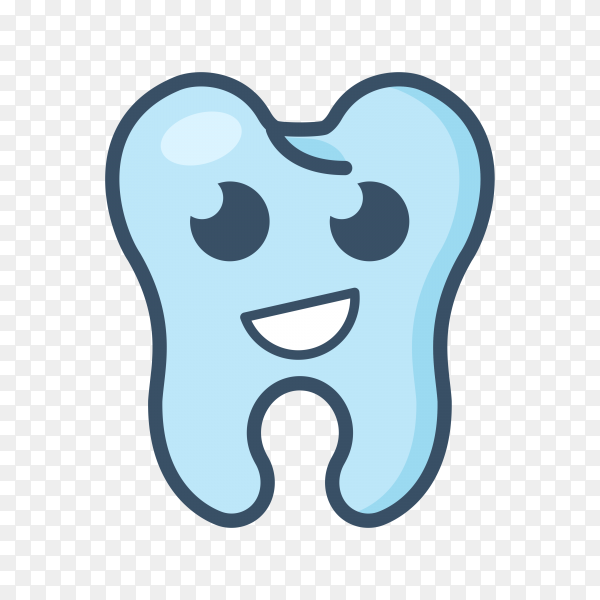 Smiling tooth icon on transparent background PNG.png