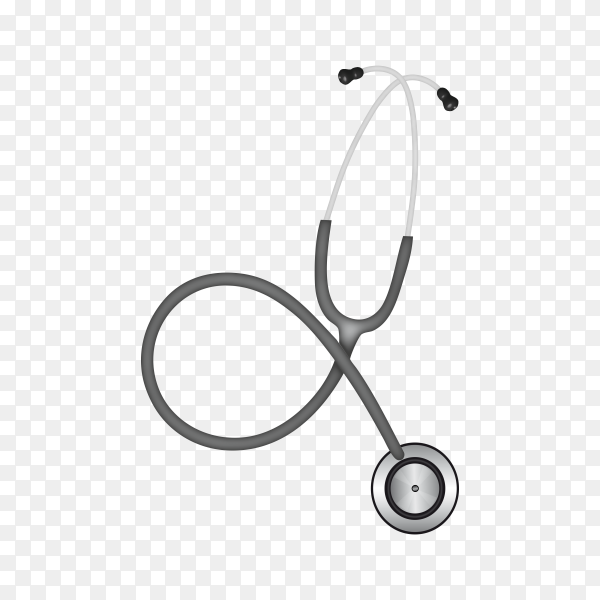 Stethoscope for medical check-up on transparent background PNG
