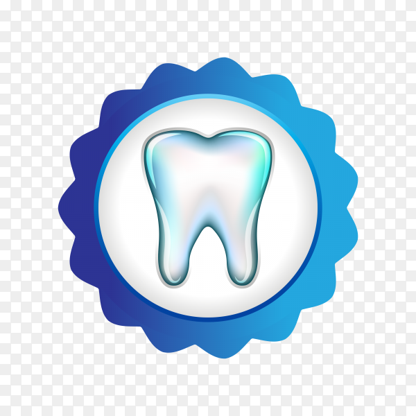 Teeth care logo on transparent background PNG.png