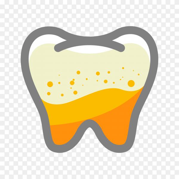 Teeth logo in flat design on transparent background PNG.png