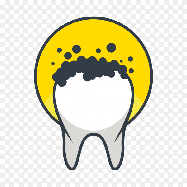 Teeth logo isolated on transparent background PNG