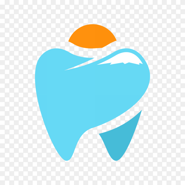 Teeth logo isolated on transparent background PNG.png