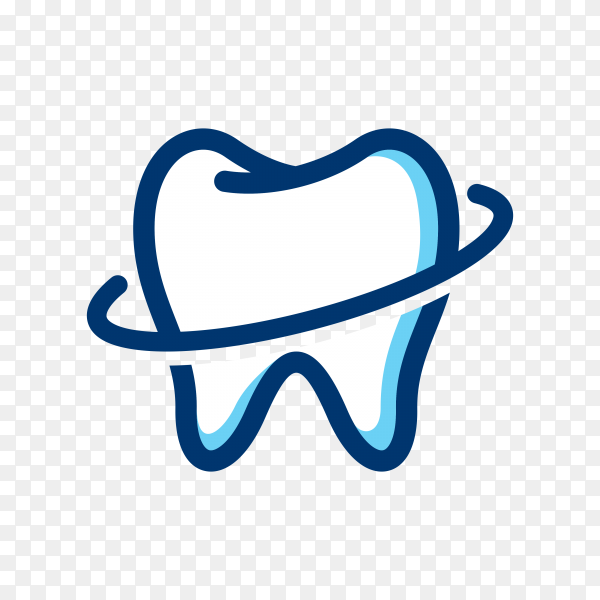 Teeth logo on transparent background PNG