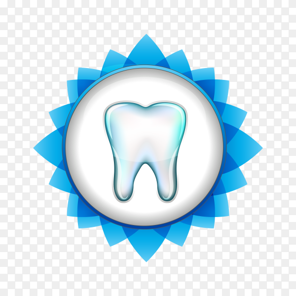Tooth icon in flat style illustration on transparent background PNG.png