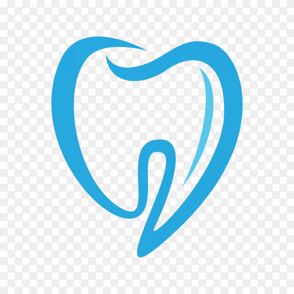 Tooth icon in flat style on transparent background PNG.png