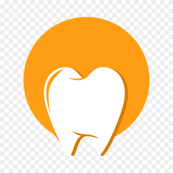 Tooth logo design illustration premium vector PNG.png