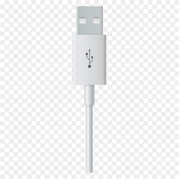 USB charger for smartphone on transparent background PNG