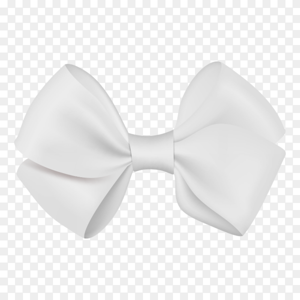 White bow template on transparent background PNG.png