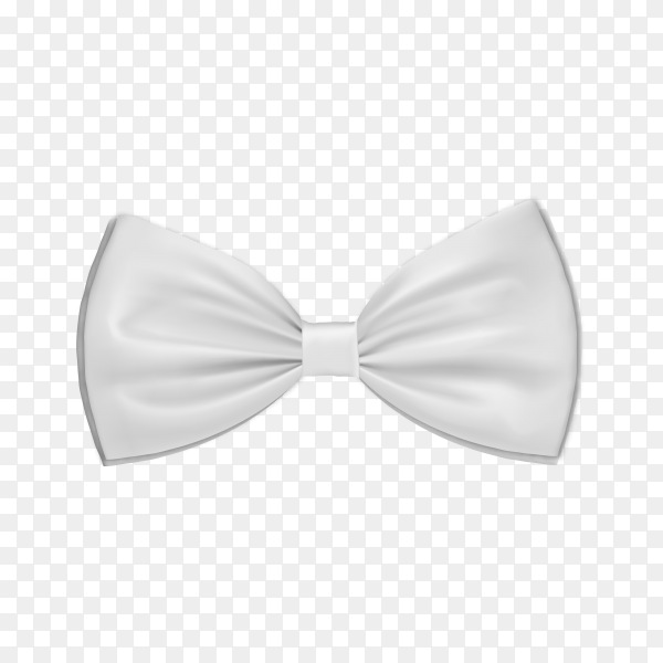White bow tie on transparent background PNG.png
