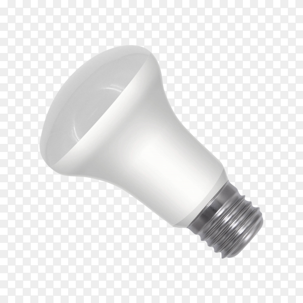 White light bulb isolated on transparent background PNG