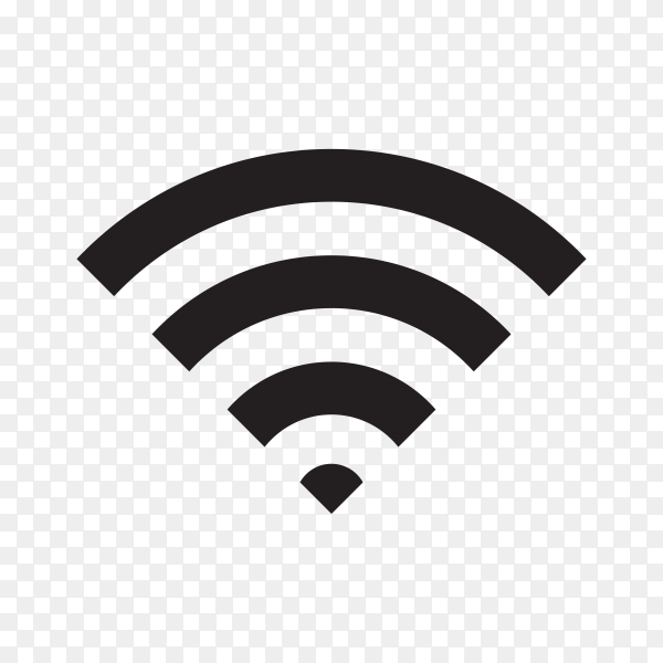 Wifi icon, a symbol of the wireless internet on transparent background PNG