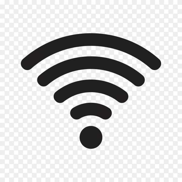 Wifi icon, a symbol of the wireless internet premium vector PNG