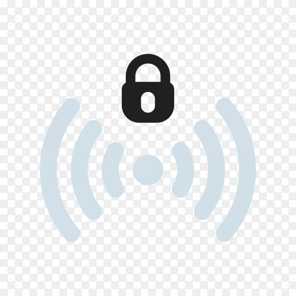 Wifi signal icon isolated on transparent background PNG