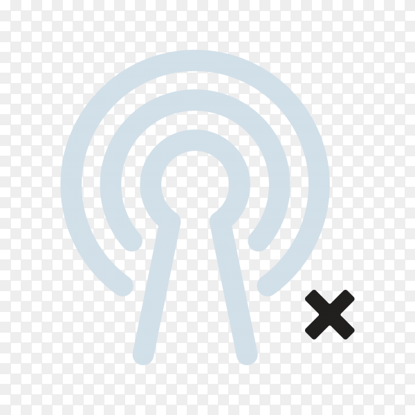 Wireless icon design isolated on transparent background PNG