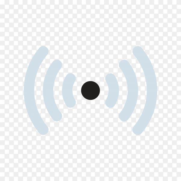 Wireless network , communication and connection symbol on transparent background PNG