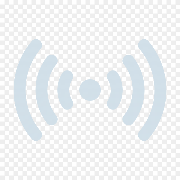 Wireless network , communication and connection symbol premium vector PNG