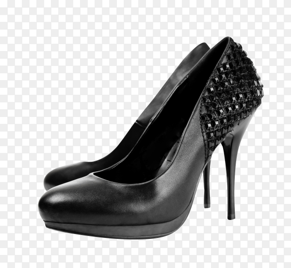 Women high hill shoes on transparent background PNG