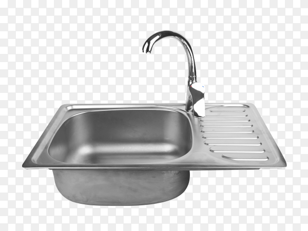 kitchen sink with tap on transparent background PNG