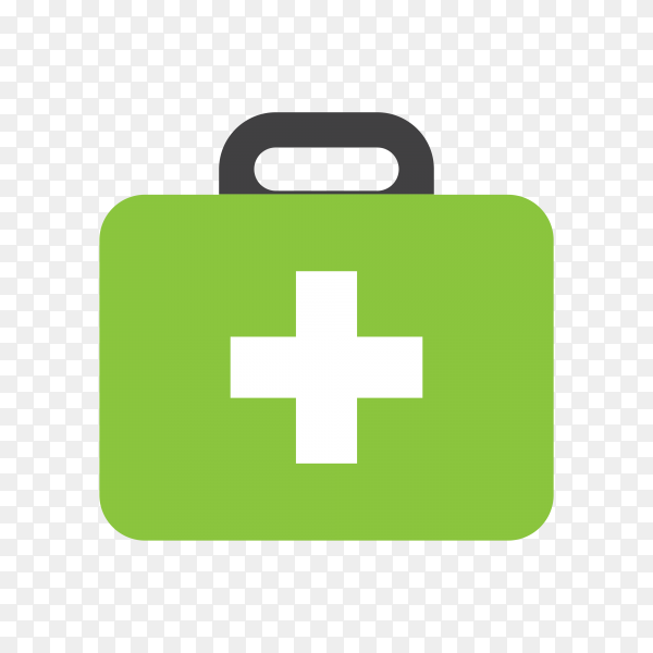 Medical kit isolated icon on transparent background PNG