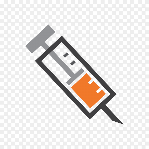 Syringe icon on transparent background PNG