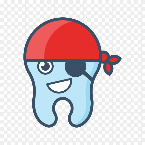 tooth icon charactrizing pirate on transparent background PNG.png