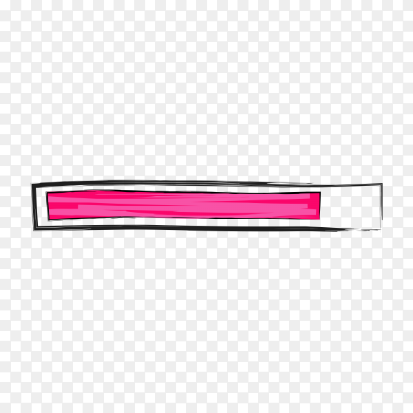 Abstract loading bar isolated on transparent background PNG