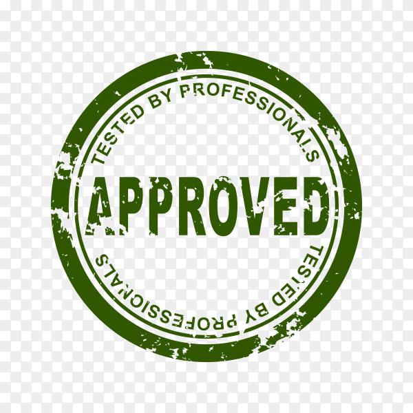 Approved stamp illustration on transparent background PNG