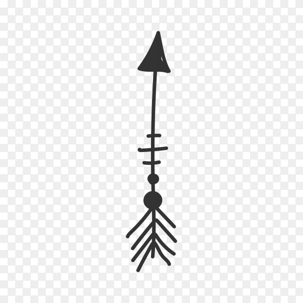 Arrow icon hand drawn . Arrow doodle isolated Clipart PNG