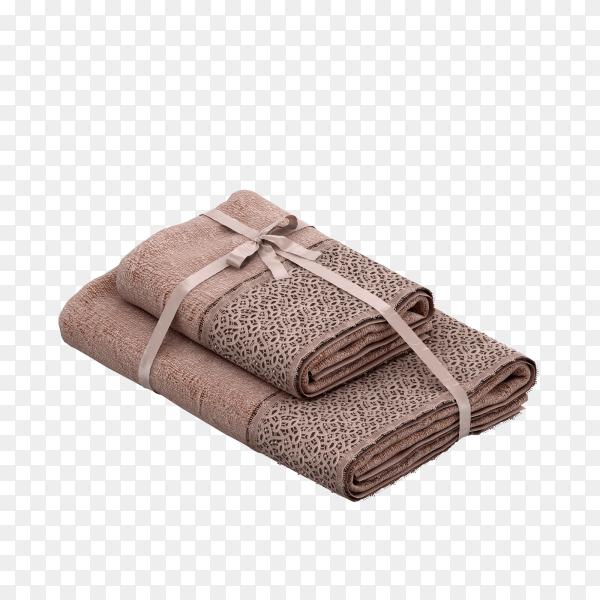 Bath towel on transparent background PNG