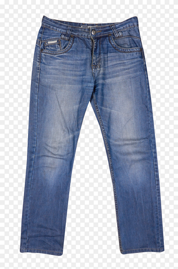 Beautiful casual jeans pants and clothes isolated on transparent background PNG