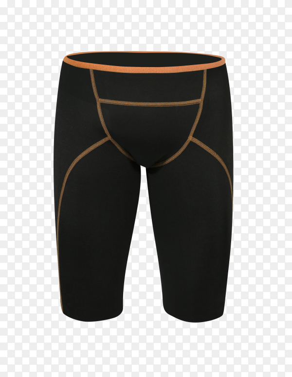 Black bicycle cycling shorts pants isolated on transparent background PNG