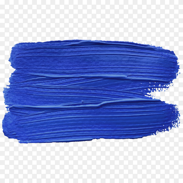 Blue brush stroke isolated on transparent background PNG