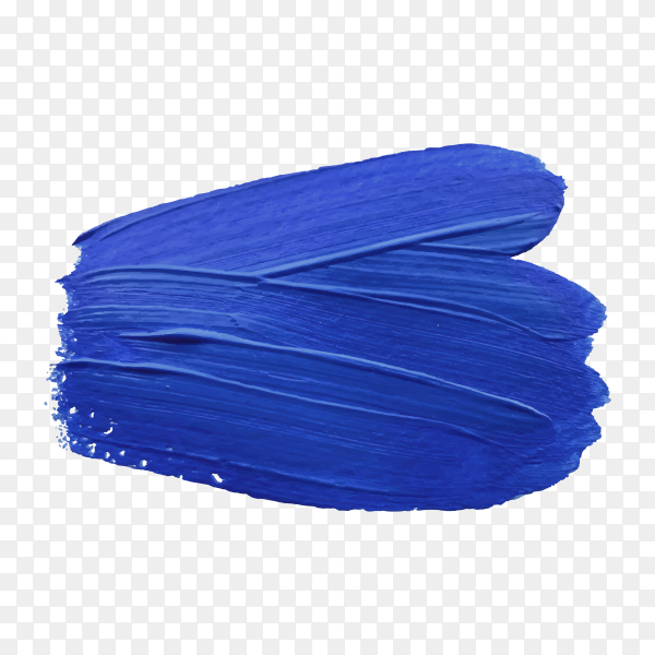 Blue brush stroke on transparent background PNG