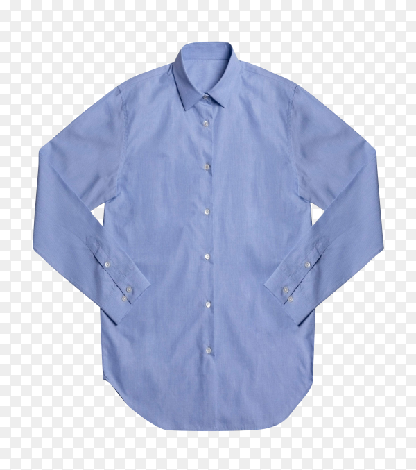 Blue formal shirt isolated on transparent background PNG