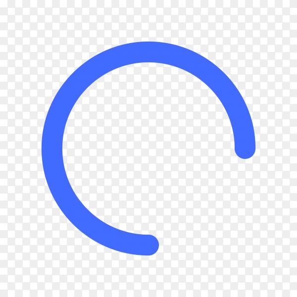 Blue loading icon design illustration on transparent background PNG
