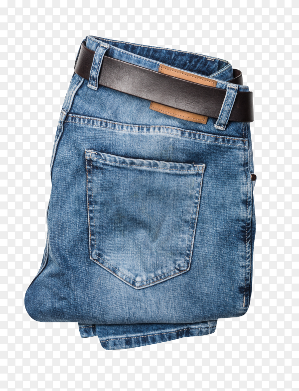 Blue pants jeans isolated on transparent background PNG