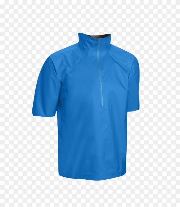 Blue t-shirt on transparent background PNG