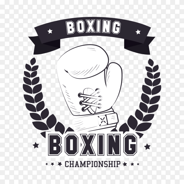 Boxing logo design . Boxing sports on transparent background PNG
