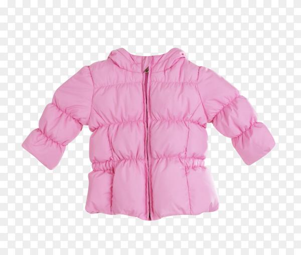 Bright children pink jacket on transparent background PNG