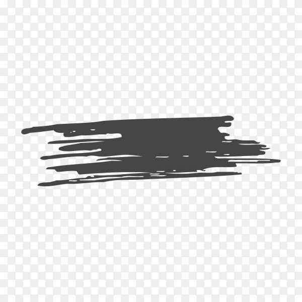 Brush hand drawn black scribbles on transparent background PNG