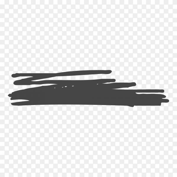 Brush hand drawn black scribbles premium vector PNG