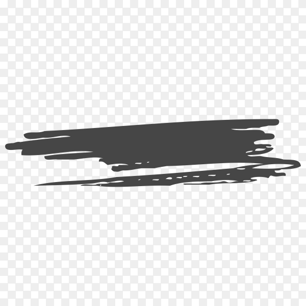 Brush hand drawn scribbles doodle on transparent PNG