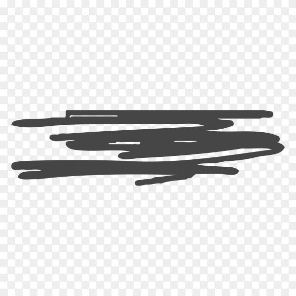 Brush hand drawn scribbles doodle on transparent background PNG