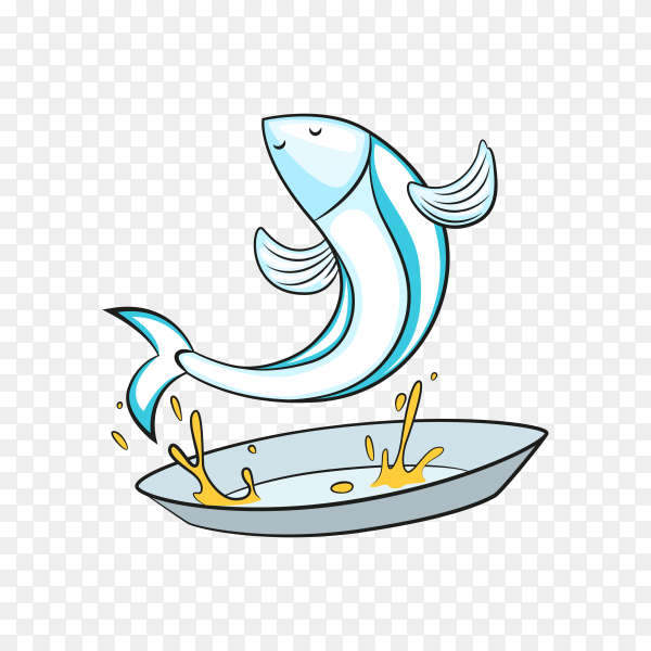 Cartoon fish on transparent background PNG
