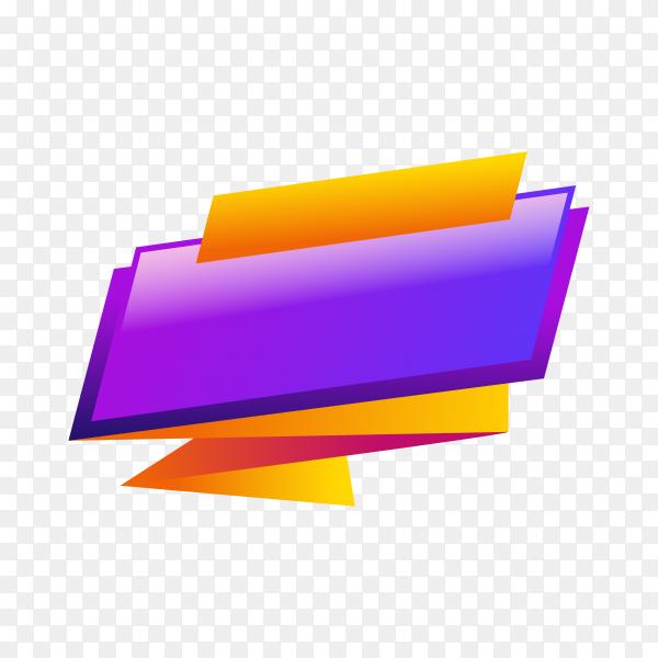 Colorful banner design template on transparent background PNG