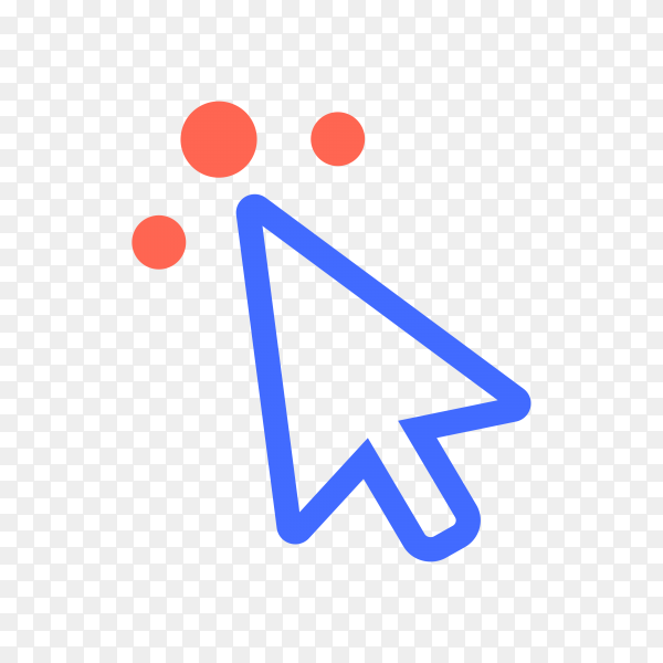 Cursor icon. Click icon illustration on transparent background PNG
